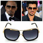 brown sunglasses for men - Mach Oversized Square Aviator Gold Metal Bar Men Designer Fashion Sunglasses