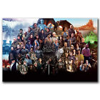 K2478 Game Of Thrones All Characters Art Fabric 21x14 40x27 inch Poster