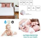 Waterproof Mattress Protector Bed Cover Soft Hypoallergenic King Queen Full Size image