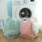 NEW Storage Foldable Washing Clothes Laundry Portable Basket Bag Bin Hamper Mesh