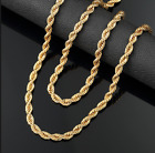 """14K Yellow Gold 1.8mm Rope Chain Twist Link Necklace 16"""" - 20"""""""