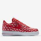 MEN'S NIKE AIR FORCE 1 Low All Over Logo RED WHITE BLACK SZ 8.5 ~ 13