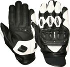 Weise Daytona Mens Kangaroo Leather Black White Sport Racing Motorcycle Gloves