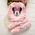 Toddler Kid Baby Girl Minnie Mouse Outfits Clothes 2Pcs Set T-shirt Tops + Pants