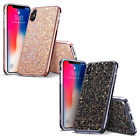 iPhone X Case, ESR Glitter Bling Hard Cover - Dual Layer - Black - Rose Gold  iphone x cases 3 layers 2828383125624040 1