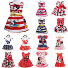 Toddler Baby Girls Minnie Mouse Dress Kids Cartoon Summer Vest Skirt Party Dress