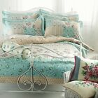 Riva Tilly Duck Egg Blue 100% Cotton Vintage Duvet Set Single