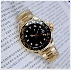 Rolex 24K Gold mens watches Luxury wrist fashion Black Dial cheap Calendar Gift image