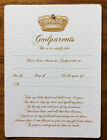 CHRISTENING CERTIFICATE - Crown design for Godmother father - FREE UK P+P
