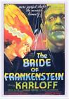 BRIDE OF FRANKENSTIEN 1935 REPRODUCTION MOVIE POSTER A3 OR A4 OPTIONS AVAILABLE