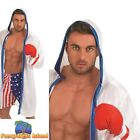 Boxer Champion Fighter Sports Sporting Wrestling Adult Mens Fancy Dress Costume