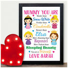 PERSONALISED Mothers Day Gifts for NANNY NAN NANNA GRANNY GRAN Wooden Blocks