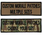 Custom 2 Line Morale Name Tapes with Border,Over 30 Fabrics! USA Made!24Hr Ship!