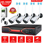 Wireless CCTV Camera Kit 4CH 1080P WIFI HDMI DVR Outdoor IP Security NVR System