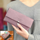 Women Leather Zipper Fashion Clutch Wallet Short and Long Card Holder Purse Hand