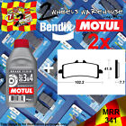 2x BENDIX 341-MRR & DOT3&4 BRAKE FLUID SINTERED PADS KIT FITS MOTORCYCLES LISTED