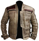 Genuine Waxed Leather Star Wars The Force Awakens Finn John Boyega Jacket £86.99 GBP