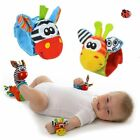 Внешний вид - 1pc Newborn Baby Boy Girl A Infant Soft Toy Wrist Rattles Finders Wristband Cute