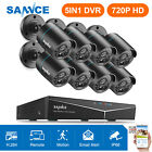 SANNCE 1080P HDMI 8CH/4CH 5IN1 DVR CCTV Security Camera System IR CUT P2P 2TB UK New