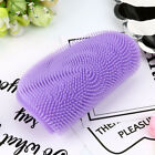 Silicone Dish Washing Sponge Scrubber Kitchen Cleaning antibacterial Tool HOT