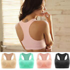 Wire Free Sweat Absorber Fitness Running Women Sport Bra Vest M L XL A B C D Cup