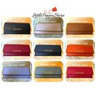 NWT MICHAEL KORS JET SET TRAVEL SAFFIANO LEATHER FLAT WALLET IN VARIOUS