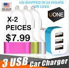 3 USB Port Car Charger Adapter 2.1A For iPhone 4 5 6 LG HTC Samsung Phone