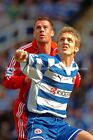 Reading player Kevin Doyle v Liverpool player Jamie Carragher photograph print
