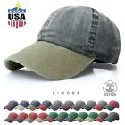 Kyпить Pigment Dyed Baseball Ball Cap Washed 2Two Tone Cotton Vintage Hat Dad Summer на еВаy.соm