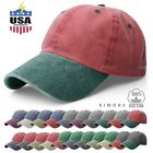 Pigment Dyed Baseball Ball Cap Washed 2Two Tone Cotton Vintage Hat Dad Summer $8.99 USD on eBay