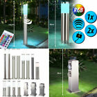 1-2x RGB LED outdoor floor lamps dimmer remote control sensor garden sockets new