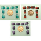 50 Aqua/Red/Purple Two-Tone Frosted Glass Cylinder Beads; Size 12 x 8mm