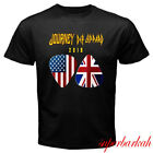 New Journey Def Leppard 2018 Tour Logo Men's Black T-Shirt Size S-3XL image