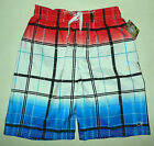 NWT BOYS Op RED WHITE BLUE FOURTH OF JULY SWIM TRUNK SHORTS size MEDIUM