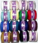 1 x 4ply 100% Mercerised Crochet Cotton Sullivans Knitting Tatting 16 colours