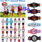 31 Patterns 3D Cartoon Waterproof Wrist Watch For Kids Boys Girls Rubber Analog image