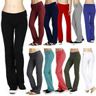 New Active Regular Leg Stretch Cotton Fold Over Workout Yoga Pants S-3XL AB8150
