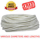 Polyester Picture Frame Hanging White Braided Cord String Thread 2-5 MM Strong