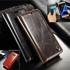 DESIGNER GENUINE LEATHER RETRO WALLET STAND CASE COVER SAMSUNG S8 S7 S8+ NOTE 8