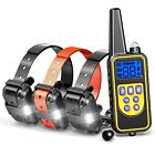 800m Rechargeable Pet Trainer Waterproof IP67 Bark Training Collar for 1/2/3 Dog