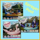 HUGE Inflatable Bird Sprayer Pool 6 Person Ride Island Float Lake Lounge Toy