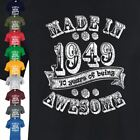 Made in 1948 Mens Unisex 70th Birthday Present Vintage Gift Womens Top  T-shirt