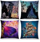 BELLE CINDERELLA QUOTATION RAPUNZEL DORY CUSHION COVER DISNEY WOVEN SILHOUETTE