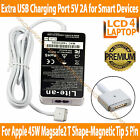 """45W Apple MacBook Air 11"""" 13"""" Magsafe 2 AC Adapter Charger + 5V 2A USB Port"""