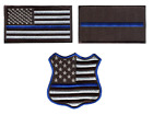 Cool Police BLM Blue Lives Matter Thin Blue Line Iron On Pat