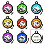 Sun's Out Tongues Out Pet ID Tags Funny Personalised Dog Name Tags Engraved Free