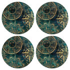4 Pcs Set Colorful Round Neoprene Fabric Felt Coasters For Cup Holder Decoration