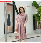 Women's summer stand collar floral Chiffon High waist beach dress KREDT72411#