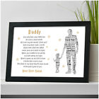 PERSONALISED Daddy and Daughter Poem Fathers Day Gifts from Daughter Little Girl