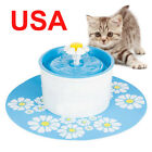 1.6L Automatic Pets Dog Cat Indoor Water Drinking Fountain Filter Bowl Dish+Mat